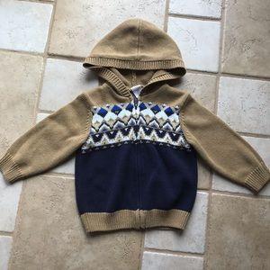 Gymboree toddler boy sweater jacket 18-24 mo